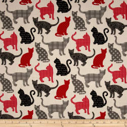 Stof France Chipie Rouge Fabric