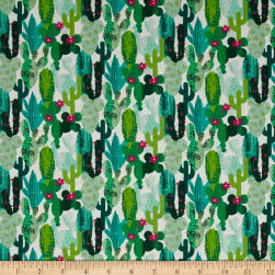Stof France Cactus Multicolore Fabric