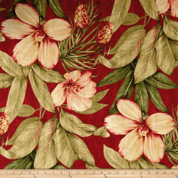 Covington Fiona Linen Vintage Red Fabric
