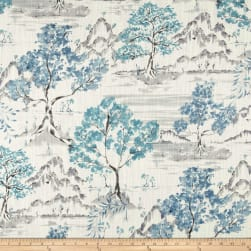 Covington Hikaru Toile Antique Blue Fabric
