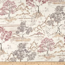 Covington Hikaru Toile Dusty Rose Fabric