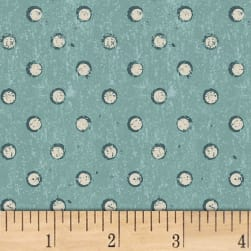 Espresso Yourself Polka Dots Light Teal Fabric