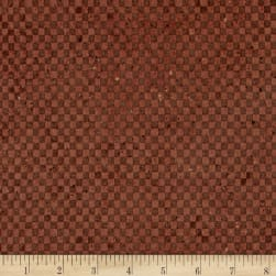 Espresso Yourself Tonal Check Light Brick Fabric
