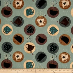 Espresso Yourself Mugs Dark Mint Fabric