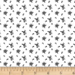 Rouge et Noir Mini Floral White Fabric