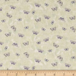 Heavenly Hydrangeas Light Khaki Fabric