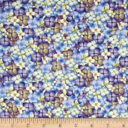 Heavenly Hydrangeas Multi Color Fabric
