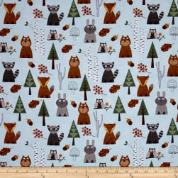 Nature Friends Light Blue Fabric