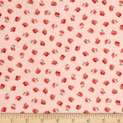 Love Song Little Roses Pink Fabric