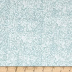 Love Song Paisley Light Teal Fabric