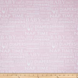 Bro.ther Sis.ter Baby Talk Pink Fabric
