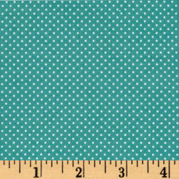 Bro.ther Sis.ter Dotty Dark Aqua Fabric