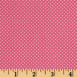 Bro.ther Sis.ter Dotty Dark Pink Fabric