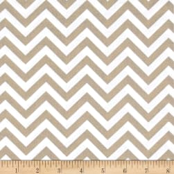 Bro.ther Sis.ter Chevron Stripe Dark Taupe Fabric