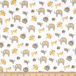 Bro.ther Sis.ter Animal Toss Dark Butter Fabric