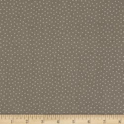 Blueberry Buckle Tiny Polka Dots Dark Taupe