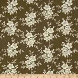Blueberry Buckle Clustered Brown Fabric