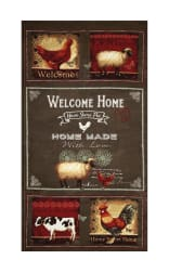 """Good To Be Home Welcome Home 24"""" Panel Dark Gray"""