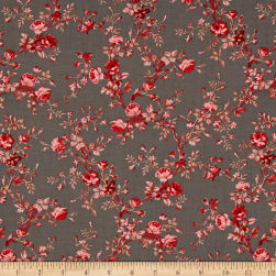 Carte Postale Floral Bouquet Dark Gray