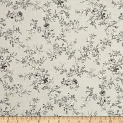 Carte Postale Floral Bouquet Light Khaki Fabric