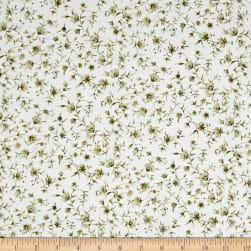 Carte Postale Flowery Vines Olive Fabric