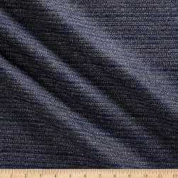 Tweed Texture Basketweave Indigo Fabric
