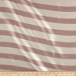Metallic Dotted Stripe Jacquard Blush Fabric