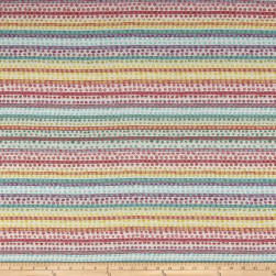 Dotted Stripe Jacquard Multicolor Fabric