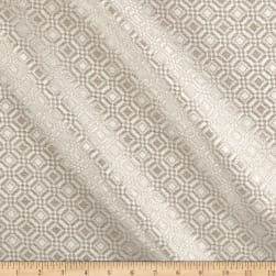 Cotton-Blend Jacquard Tile Motif Pewter