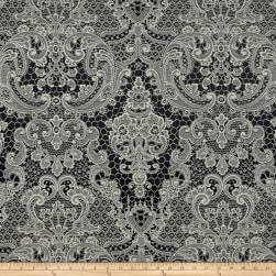 Lovely Lace Jacquard Noir Fabric
