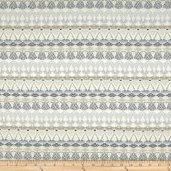 Ornate Stripes Jacquard Pewter Fabric