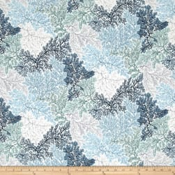 Coastal Drift Metallic Sea Coral Seagrass/Silver Fabric