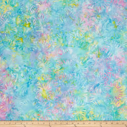 Bali Batik Sunflower Pastel Fabric