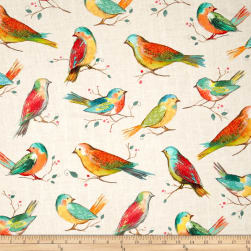 Hoffman Digital All A Twitter Birds Spring Fabric