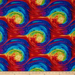 Timeless Treasures Fantasy Forest Painted Swirl Multi Fabric