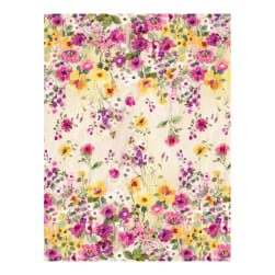 Timeless Treasures Muse Double Border Floral Natural
