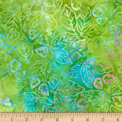 "Timeless Treasures Tonga 106"" Extra Wide Batik Tropic Leaf"
