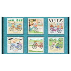 Enjoy The Journey 24'' Bike Blocks Panel Multi Fabric