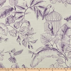 Home Accent Menagerie Toile Grape Fabric