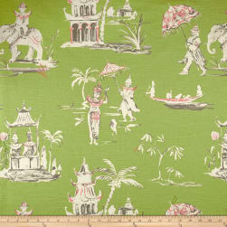 Home Accent Pagoda Road Toile Pistachio Fabric