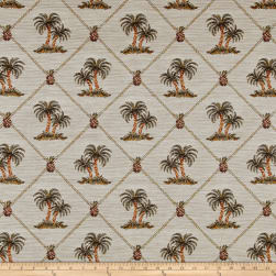Largo Palm Tree Framed Jacquard Multi Fabric
