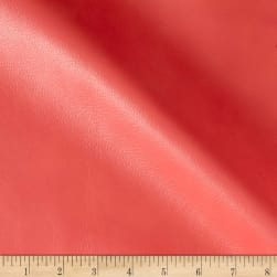 Pecos Faux Leather Coral Fabric