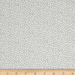 Baseline Tiny Flowers White/Gray Fabric