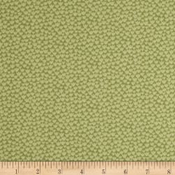 Baseline Tiny Flowers Green Fabric