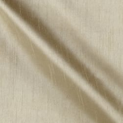 Worldly Faux Dupioni Silk Beige Fabric