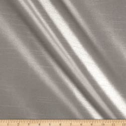 Worldly Faux Dupioni Silk Pewter