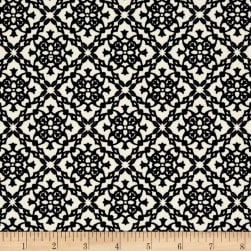 Crepe Double Knit Diamond Medallion Ivory/Black