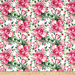 Berkshire Garden Large Floral White Fabric