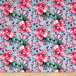 Berkshire Garden Large Floral Periwinkle Fabric