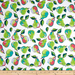 Berkshire Garden Pears White Fabric